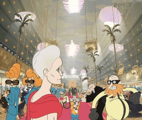 An animated Robin Wright in Ari Folman's The Congress