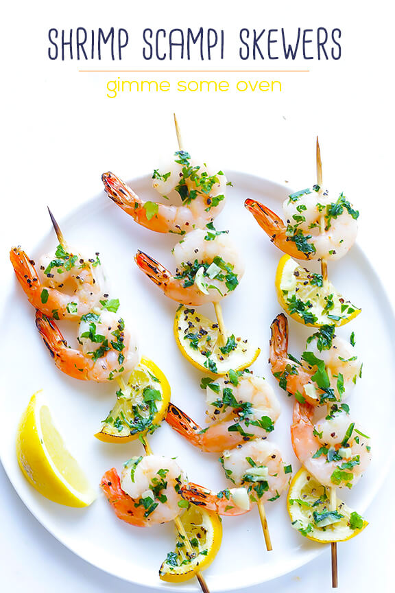 Saturday : Shrimp Scampi Skewers from Gimme Some Oven , whole wheat ...