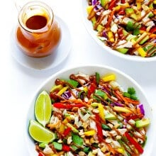 Rainbow Thai Chicken Salad | gimmesomeoven.com #glutenfree