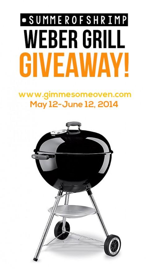 Weber Grill Giveaway | gimmesomeoven.com #SummerofShrimp #Giveaway