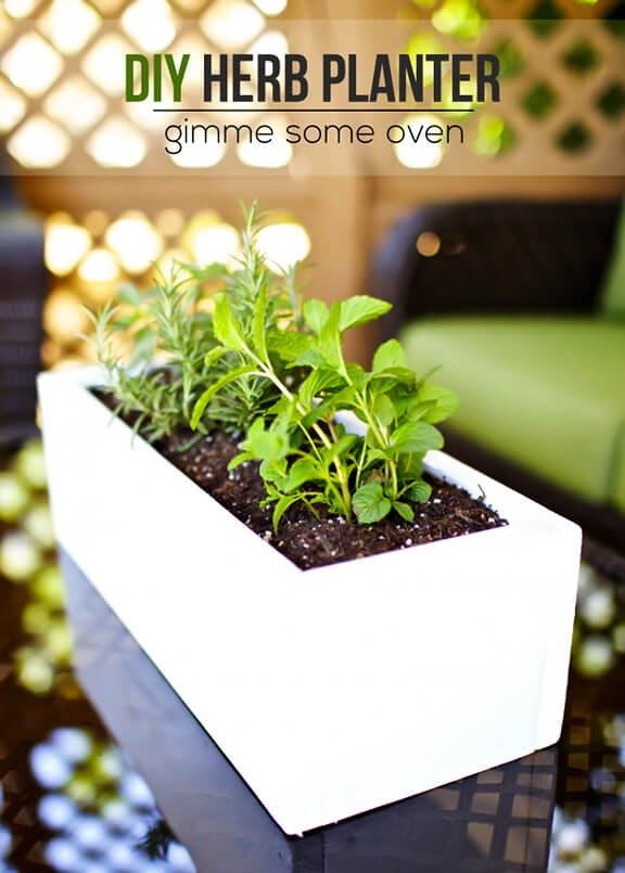 DIY Herb Planter -- easy to make with just a few simple materials! | gimmesomeoven.com/style #diy #garden