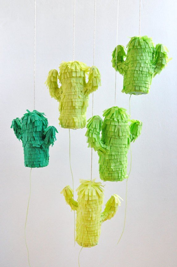 Mini Cactus Pinatas | Oh Happy Day