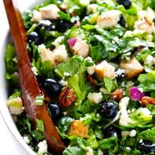Blueberry Chicken Chopped Salad | gimmesomeoven.com #salad