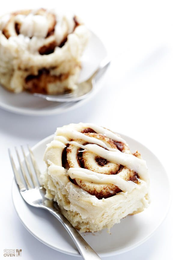 Brown Butter Cinnamon Rolls -- unbelieavbly delicious, and ready to go in a little over an hour! | gimmesomeoven.com