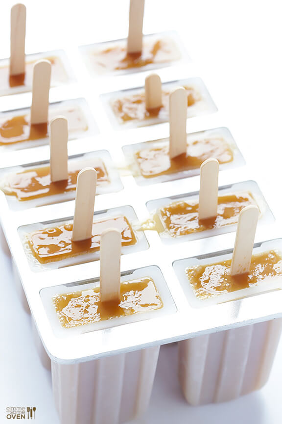 Easy Chai Popsicles -- all you need are 2 ingredients for these delicious treats!   gimmesomeoven.com