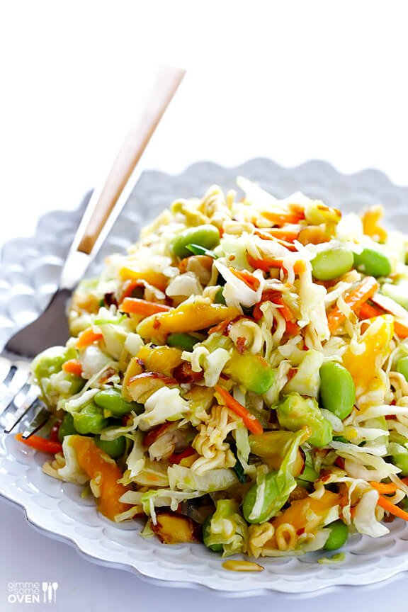 Crunchy Asian Ramen Noodle Salad (Pretty Much The Best Potluck Salad EVER)