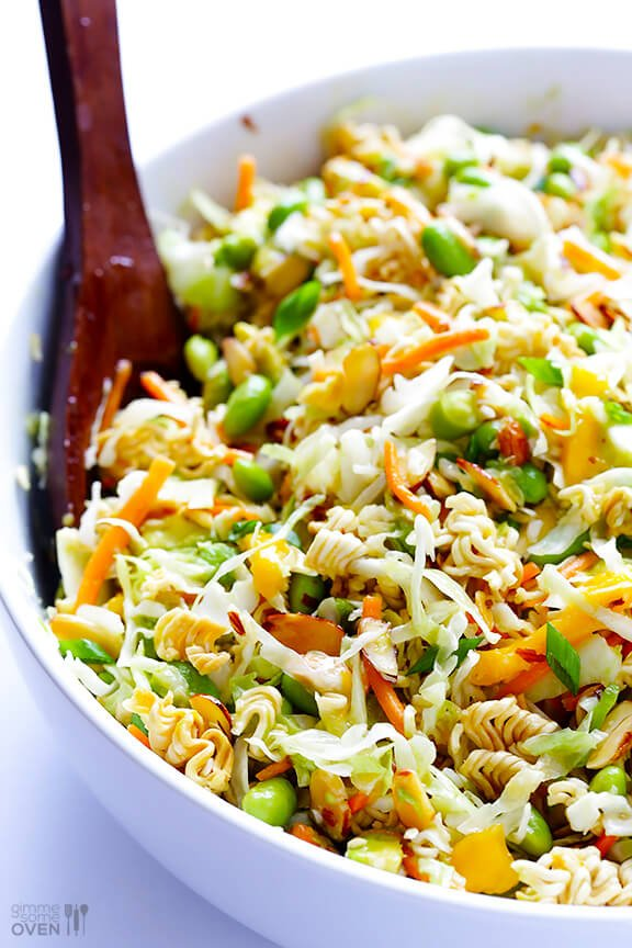 ... Asian Ramen Noodle Salad (a.k.a. Basically The Best Potluck Salad EVER