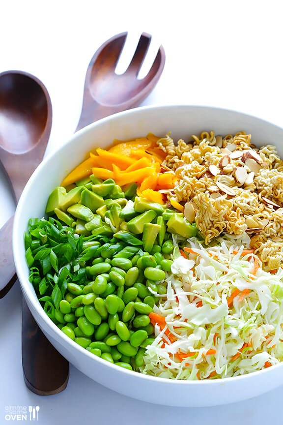 Crunchy Asian Ramen Noodle Salad | Gimme Some Oven