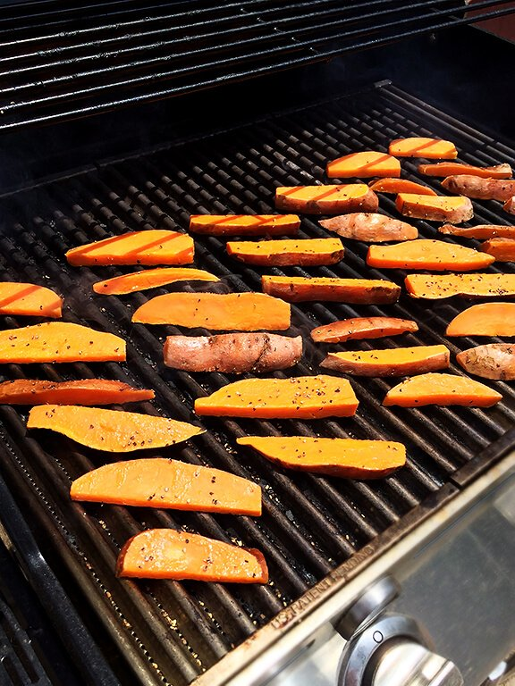 To learn how to make these Grilled Sweet Potato Fries , just pop on ...