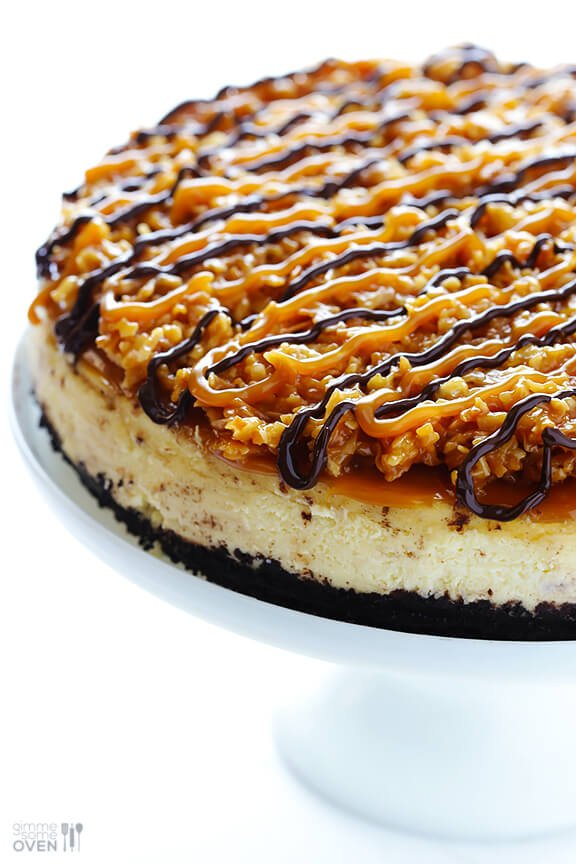 Samoa Cheesecake {Gimme Some Oven}