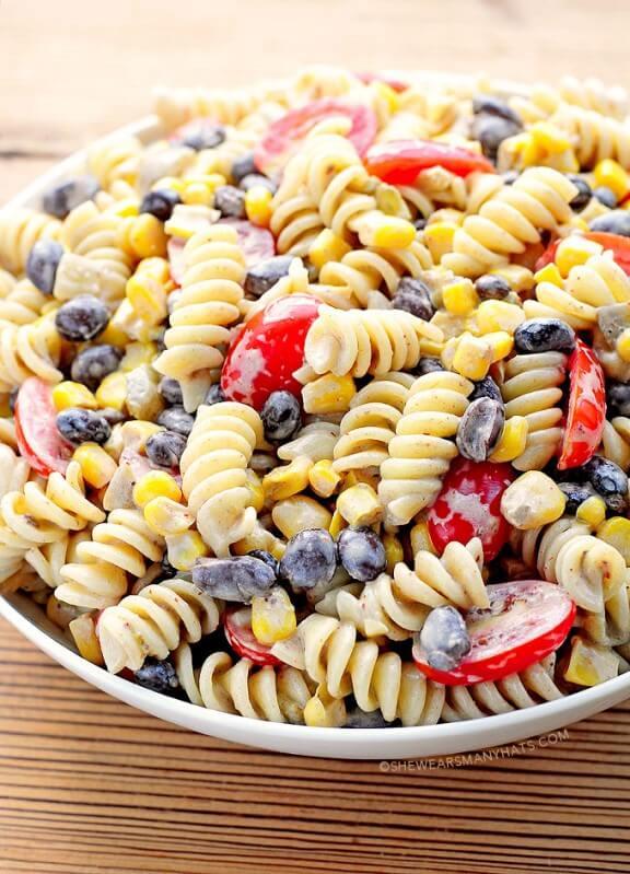 Southwestern Black Bean Pasta Salad   She Wears Many Hats