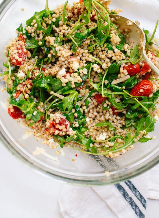 Roasted Cherry Tomato, Arugula & Sorghum Salad | Cookie & Kate