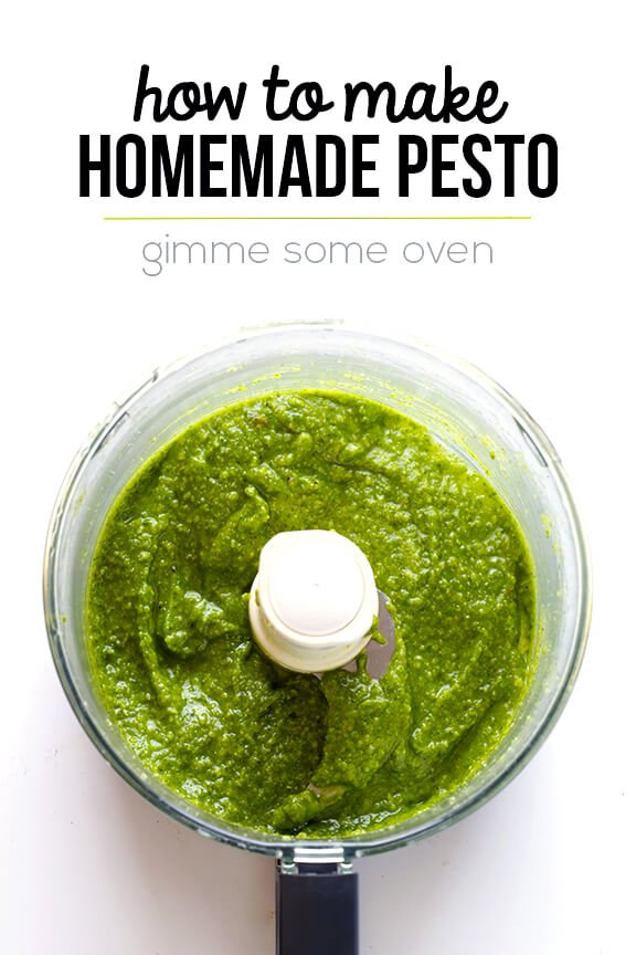 How To Make Pesto -- fresh homemade pesto is so easy to make! | gimmesomeoven.com