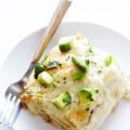 White Chicken Enchilada Casserole | gimmesomeoven.com #mexican