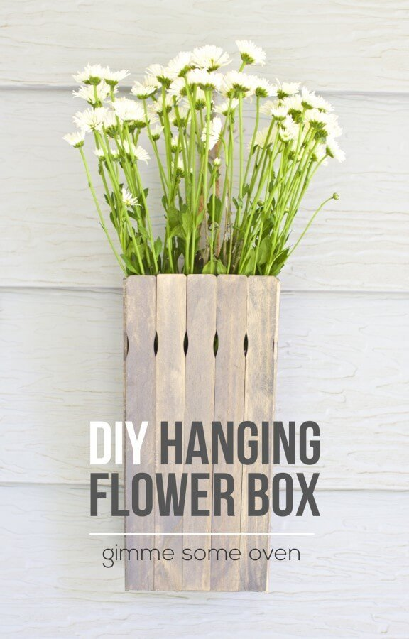 DIY Hanging Flower Box {Gimme Some Oven}