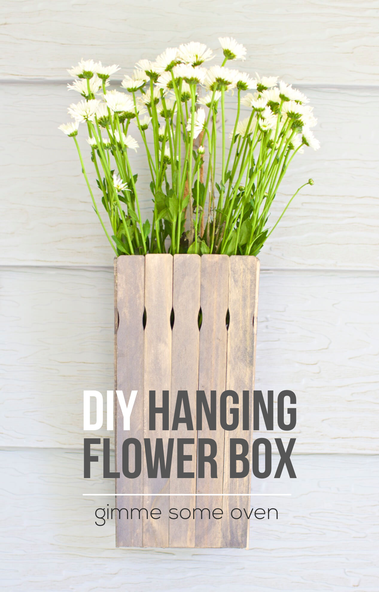 DIY Hanging Flower Box | Gimme Some Oven
