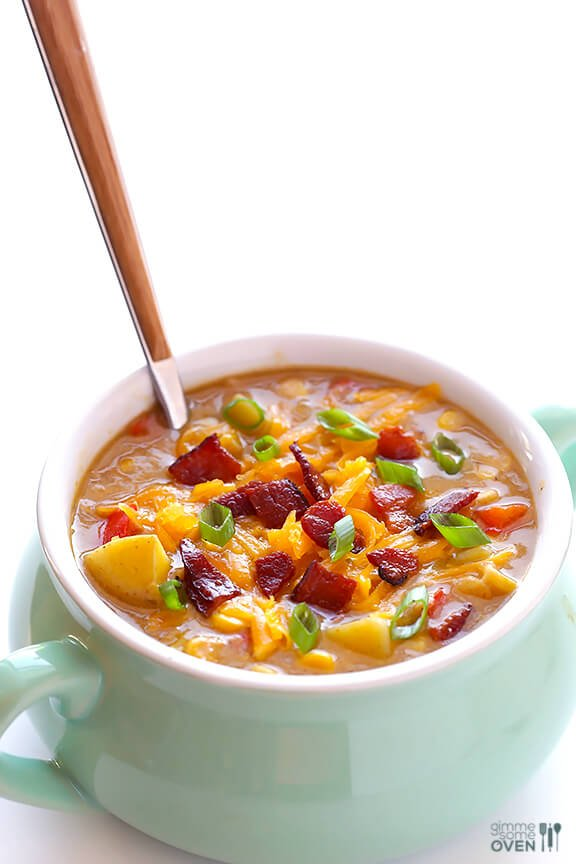 Bacon Corn Chowder | gimmesomeoven.com #soup #recipe