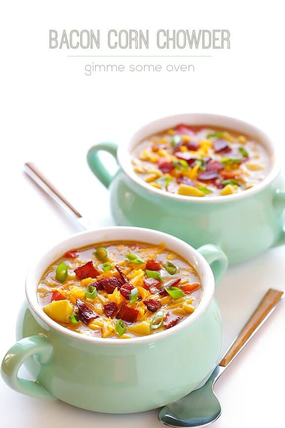 Bacon Corn Chowder   gimmesomeoven.com #soup #recipe