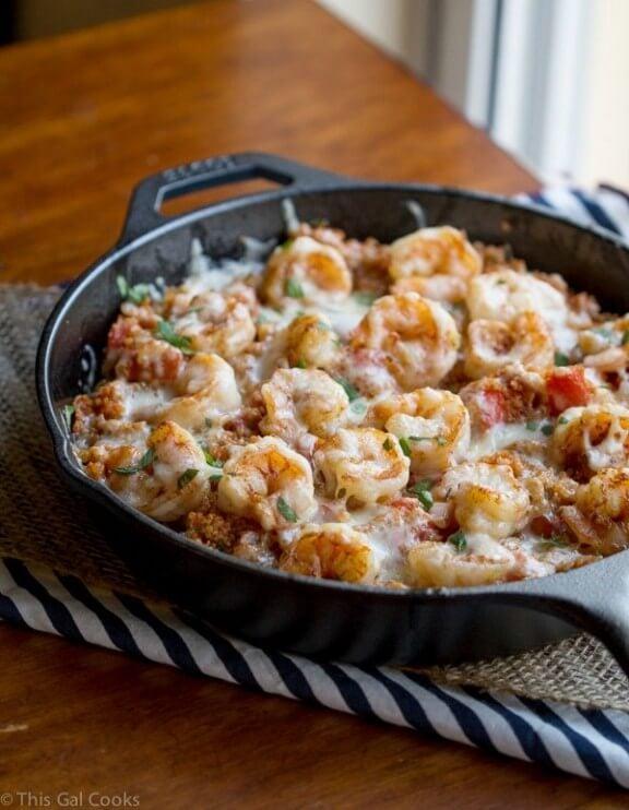 Cajun Shrimp and Quinoa Casserole   thisgalcooks.com