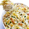 Chicken Alfredo Baked Ziti | gimmesomeoven.com #italian #recipe