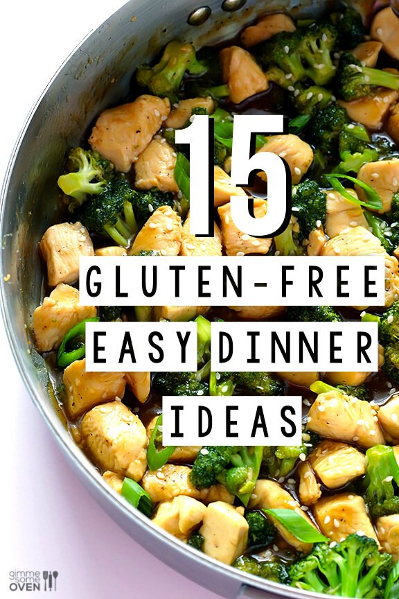 15 Gluten Free Easy Dinner Ideas | Gimmesomeoven.com #dinner #recipe  #glutenfree