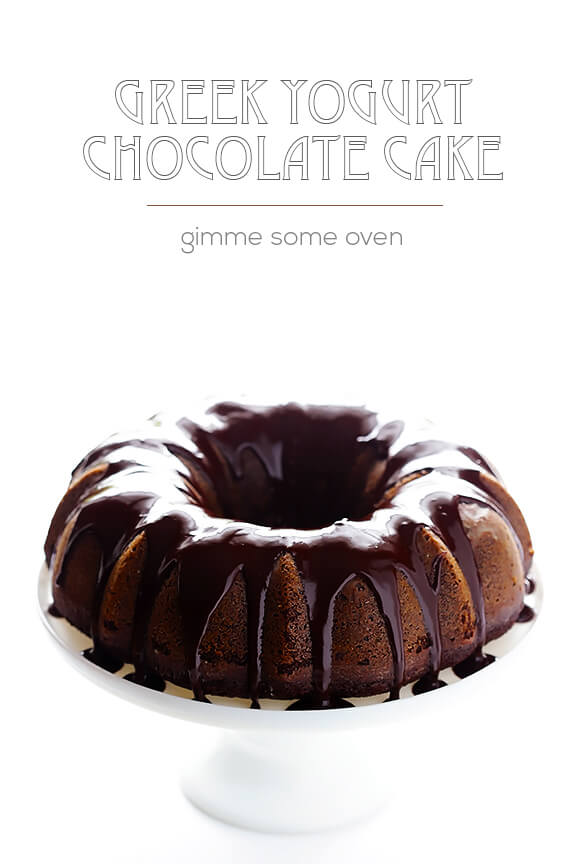Greek Yogurt Chocolate Cake | gimmesomeoven.com #dessert