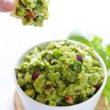 Italian Guacamole | gimmesomeoven.com #appetizer #dip #recipe #vegan #glutenfree