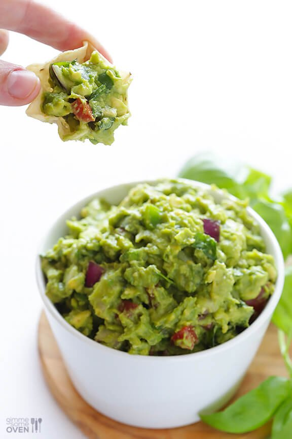 Italian Guacamole -- fresh basil is the rockstar of this delicious twist on classic guacamole | gimmesomeoven.com #appetizer #dip #glutenfree #vegan