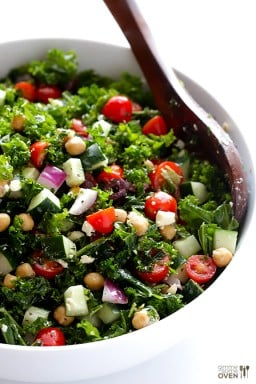 Chopped Kale Greek Salad {Gimme Some Oven}