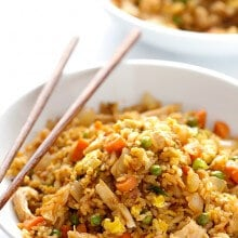 Spicy Chicken Fried Rice | gimmesomeoven.com