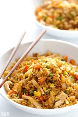 Spicy Chicken Fried Rice {Gimme Some Oven}