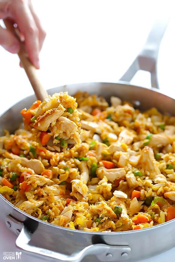 Spicy Chicken Fried Rice Gimme Some Oven
