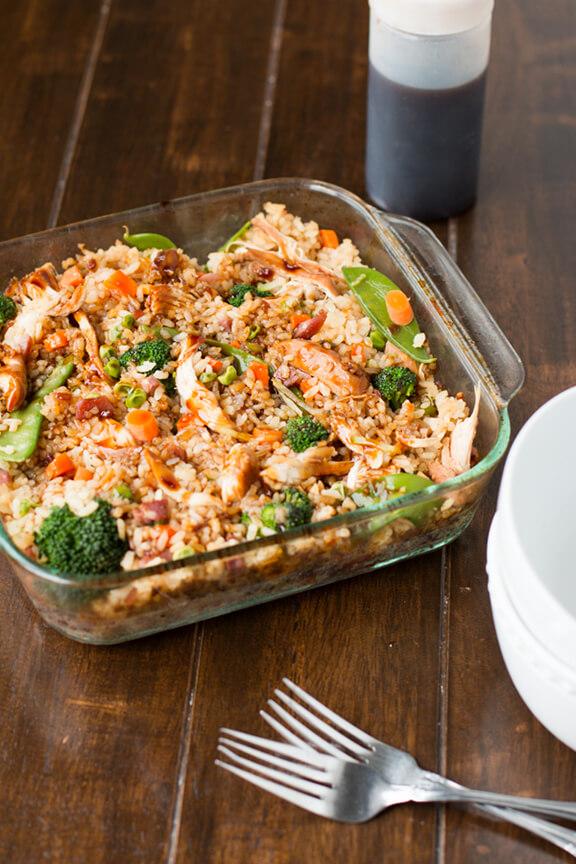 Teriyaki Chicken Casserole | ohsweetbasil.com