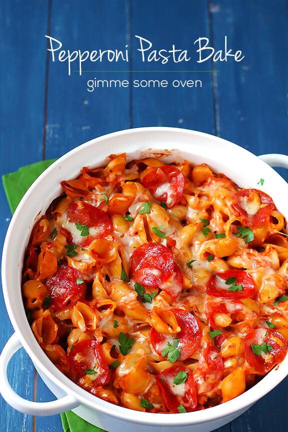 Pepperoni Pasta Bake | gimmesomeoven.com