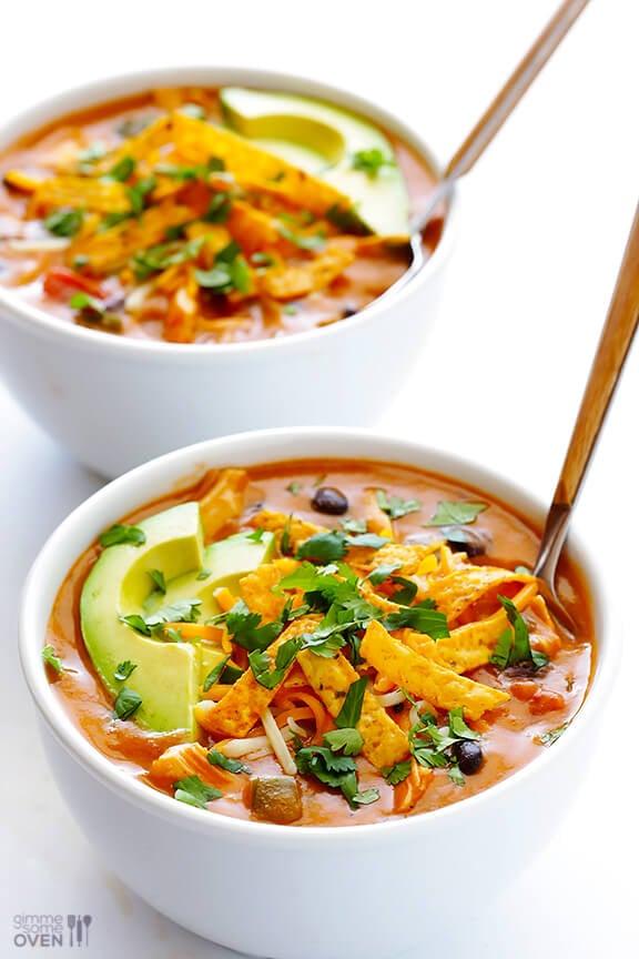 Chicken Enchilada Soup Recipe — Dishmaps