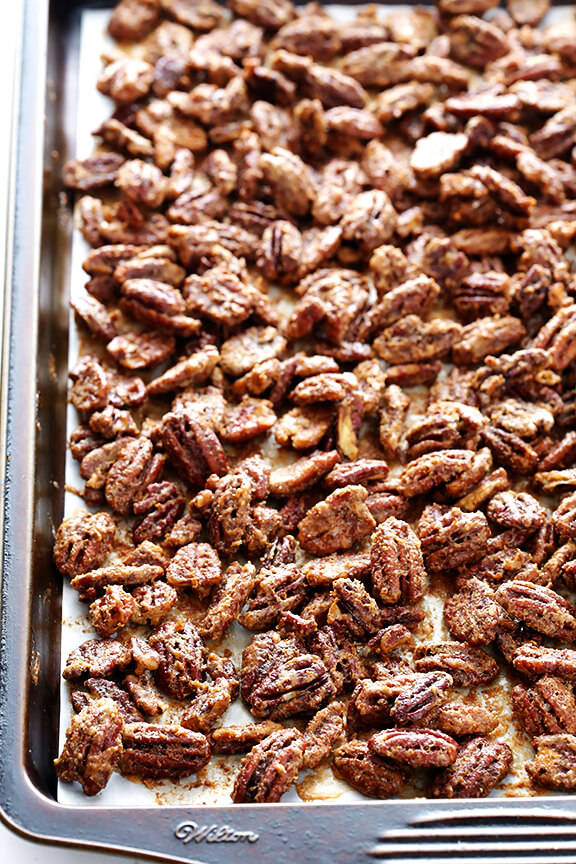Candied Pecans | gimmesomeoven.com