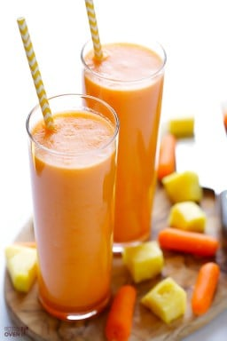 Carrot Pineapple Smoothie {Gimme Some Oven}