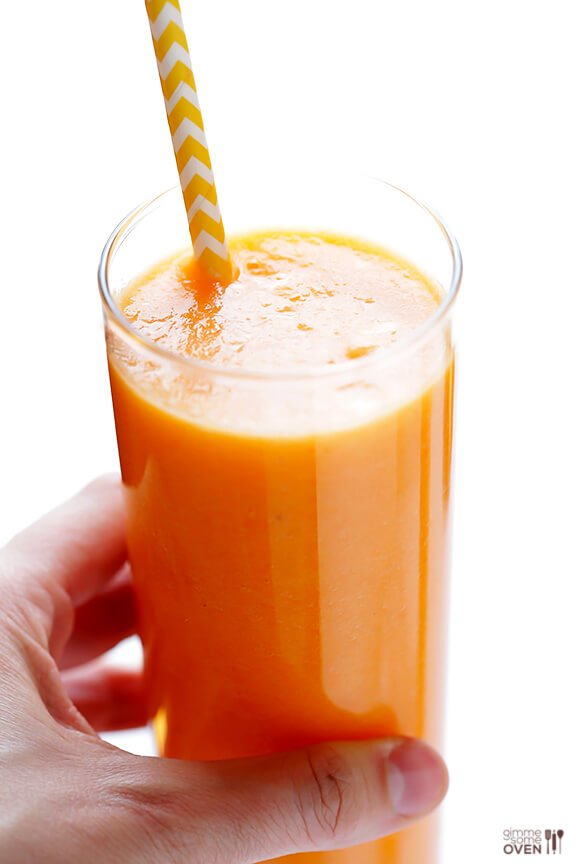 This very orange (also very good for you) Carrot Pineapple Smoothie.
