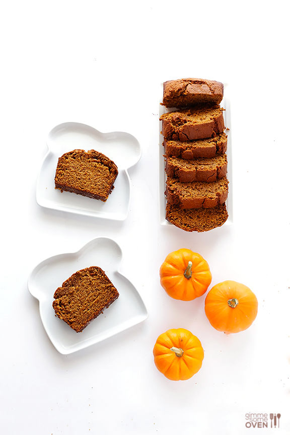 Coconut Oil Pumpkin Bread | gimmesomeoven.com #fall #recipe