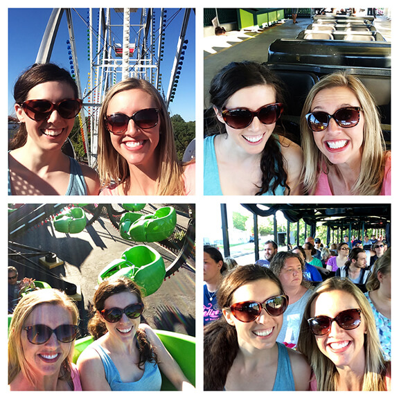 Roller Coaster Collage