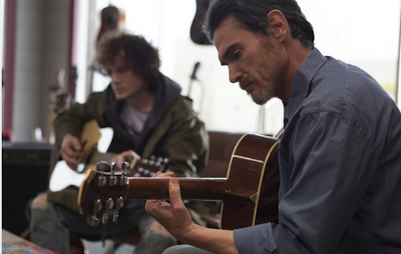 Anton Yelchin and Billy Crudup in William H. Macy's Rudderless © Courtesy of Sundance Institute