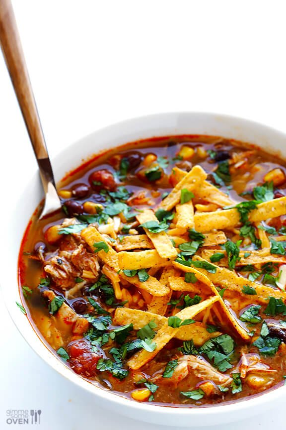 Slow Cooker Chicken Enchilada Soup Gimme Some Oven