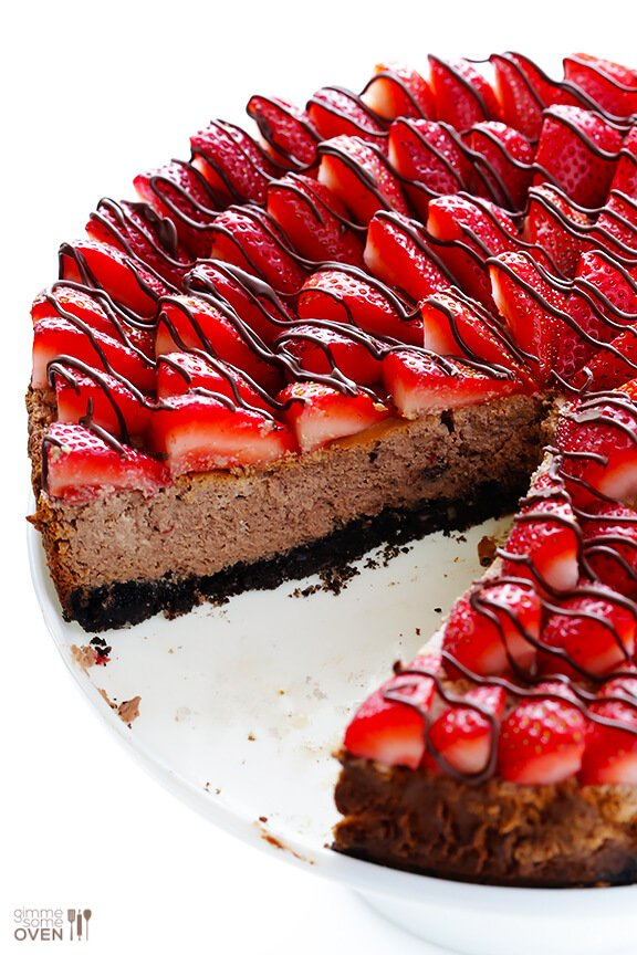 Strawberry Nutella Cheesecake | Gimme Some Oven