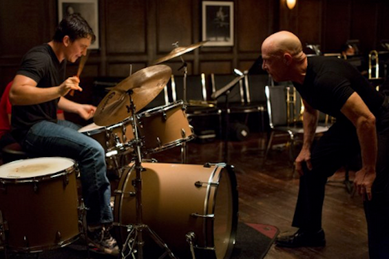 Miles Teller and J.K. Simmons in Damien Chazelle's Whiplash. Photo by Daniel McFadden - © Courtesy of Sundance Institute