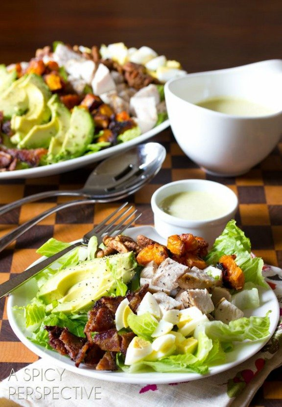 Harvest Cobb Salad | aspicyperspective.com
