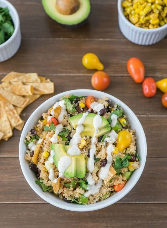 Spicy Quinoa Taco Bowl | oneingredientchef.com