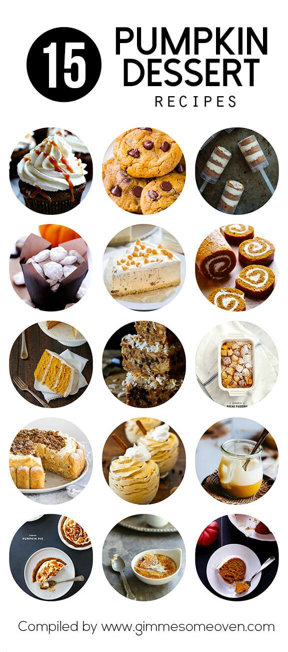 15 Pumpkin Dessert Recipes | gimmesomeoven.com #fall #baking