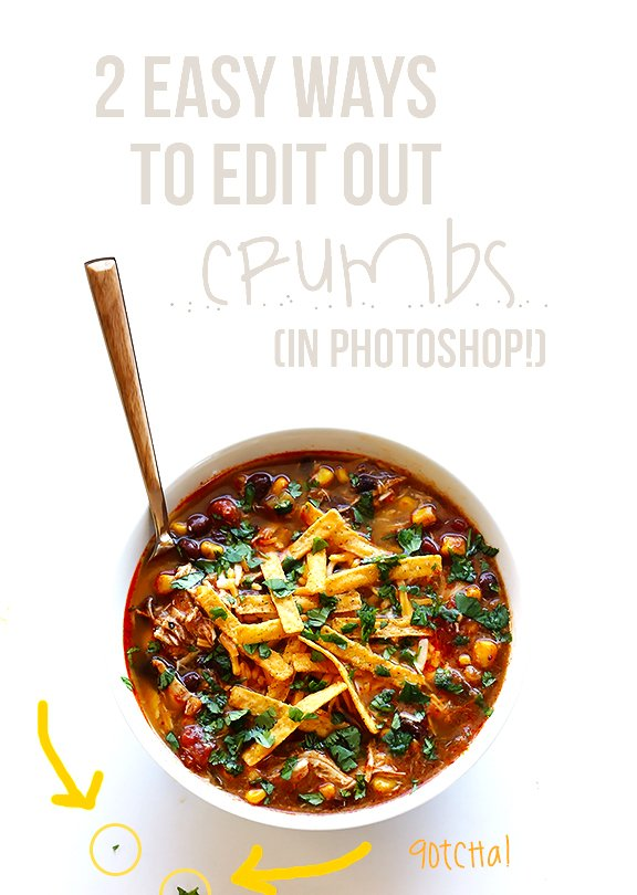 2 Easy Ways To Edit Out Crumbs In Photoshop | gimmesomeoven.com