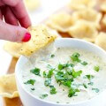 2-Ingredient Queso Dip -- ready to go in 5 minutes, and so irresistibly good! | gimmesomeoven.com #appetizer #gameday