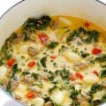7-Ingredient Zuppa Toscana (Creamy Gnocchi Soup with Sausage and Kale) | gimmesomeoven.com